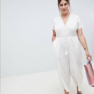 ASOS Curve Cotton Embroidered Jumpsuit